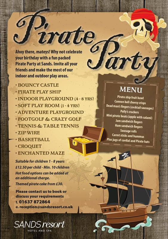Pirate party flyer