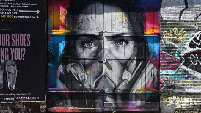 Street art thanks NHS staff for tackling coronavirus