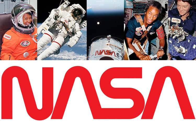 NASA brings back worm logo to mark American space revival